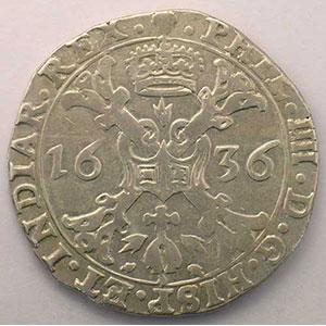 1/2 Patagon   Philippe IV (1621-1665)   1636 Bruxelles    TB+/TTB