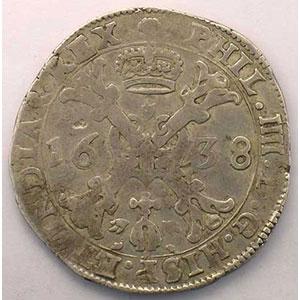 1/2 Patagon   Philippe IV (1621-1665)   1638 Bruxelles    TB+/TTB