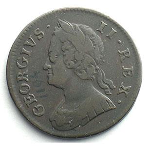 1/2 Penny   1752    TB+