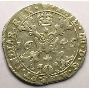 1/4 Patagon   Philippe IV (1621-1665)   1645 Anvers    TTB