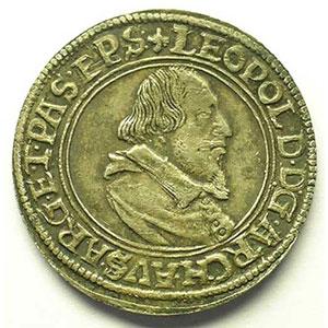 1/4 Thaler   Léopold d'Autriche (1614-1626)   s.d.   atelier d'Ensisheim    TTB+