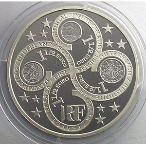 1,5 €   Europa   2003   37mm   22,2 g - Ag 900 mill.    BE