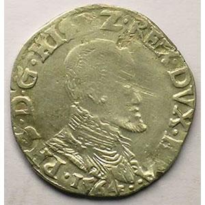 1/5 Ecu   Philippe II (1555-1598)   1564 Maastricht    TB/TB+