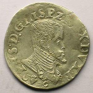 1/5 Ecu   Philippe II (1555-1598)   1566    TB/TB+