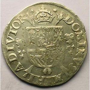 1/5 Ecu   Philippe II (1555-1598)   1571 Anvers    TTB/TTB+