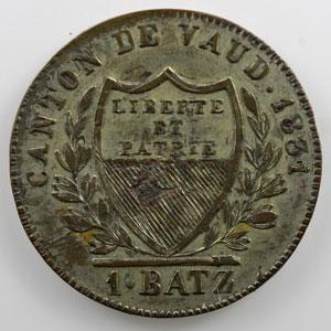 1 Batzen   1831    TTB+/SUP