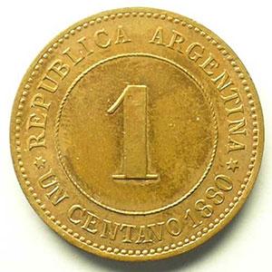 1 Centavo   1880 E (Essai)    SUP/FDC