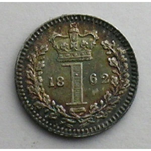 1 D Maundy Penny   1862    SUP/FDC