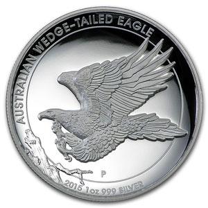 1 Dollar   2015   Australian wedge-tailed eagle    Proof