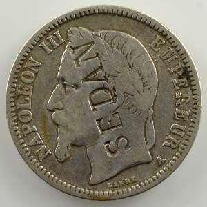 1 Franc   1868 A  contremarqué SEDAN    TB