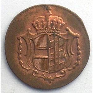 1 Heller   Leopold II (1790-1792)   1791 H  (Günzburg)    TTB+/SUP