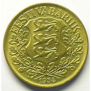 1 Kroon   1934    TTB+/SUP