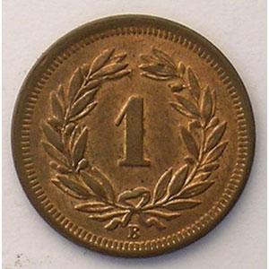 1 Rappen   1903 B    SUP/FDC