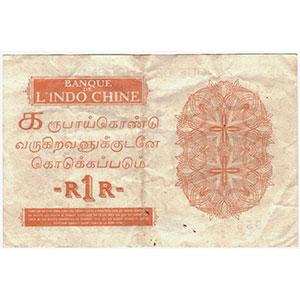 Billets Monnaies Des Colonies Françaises Inde Comptoirs Français De