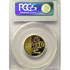 10 €   2003   or    PCGS-PR69DCAM    BE