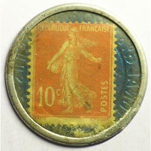 10 Cent rouge/bleu    TB+