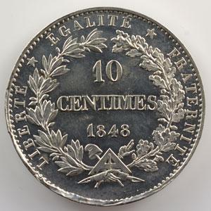 10 Centimes   1848   Concours de Borrel   étain    SUP/FDC