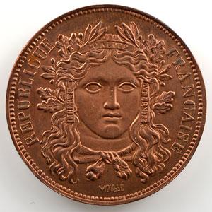 10 Centimes   1848   Concours de Moullé   cuivre   revers c    TTB+/SUP