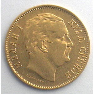 10 Dinars   1882 V  (Vienne)    TTB