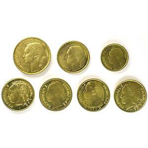 10 Francs, 20 Francs, 50 Francs Guiraud, 20 Francs concours de Guzman, Morlon, Simon, Turin   1950 Essai    SUP/FDC