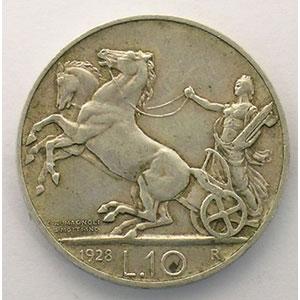 10 Lire   1928 R  (Roma)    TB+/TTB