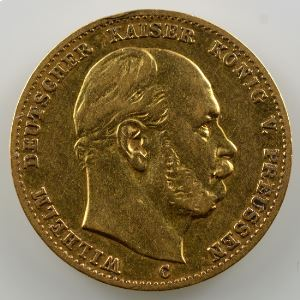 10 Mark   1872 C  (Frankfurt)    TTB