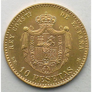 10 Pesetas   1878   refrappe officielle de 1962    SUP/FDC