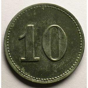 10 (Pf)   Zn, R   23,5mm    SUP vernie