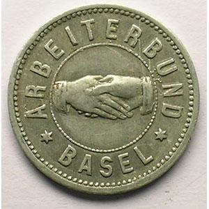 10 (Rappen) 1892,   Al,R,   19 mm   TTB+