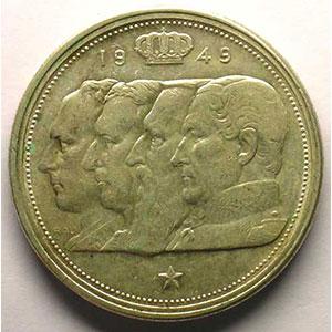 100 Francs   1949  FL   coins tournés 45°    TTB+