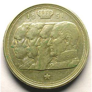 100 Francs   1951  FL   coins tournés 30°    TTB