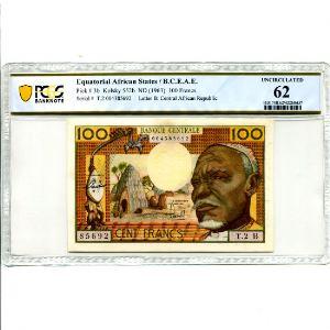 100 Francs   ND (1963)    SPL    PCGS-UNC 62