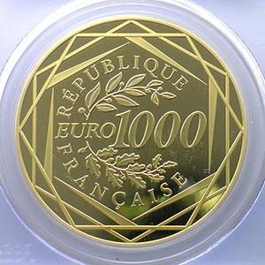 1000 €   2012    PCGS-PR69DCAM    BE