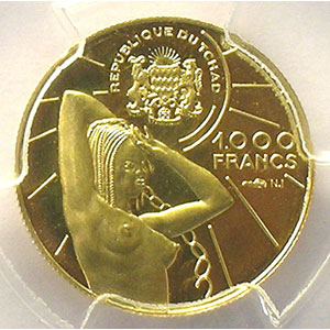1000 Francs   (1970)    PCGS-PR67DCAM    BE