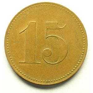 15 (Rappen)   Cu,R,   22 mm   TTB+