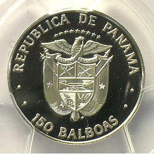 150 Balboas   Simon Bolivar   1976   platine    PCGS-PR69DCAM    FDC