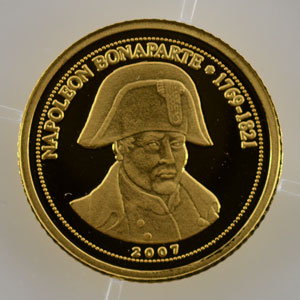 1500 Francs CFA   2007   Napoléon I    BE