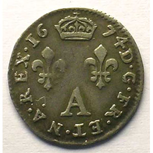 1674 A  (Paris)   D de LVD inversé    TTB