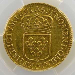 1691 A (Paris)  flan réformé    PCGS-AU55    TTB+/SUP