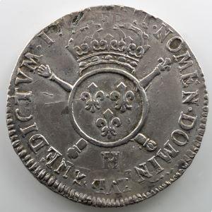 1702 H  (La Rochelle)  réf.  buste aux palmes    TB+/TTB