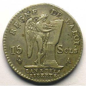 1791 A  (Paris)  héron  1er sem.    TTB