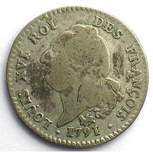 1791 .A  (Paris)  léopard  2°sem.    B/TB