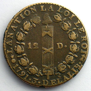 1791 AA  2°sem.  (Metz)    TTB