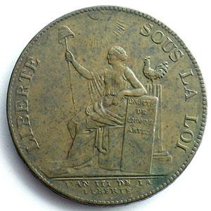 1791  An III   var.50#   bronze    TTB