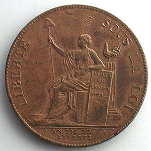 1791  An III   var.50L.   Bronze    SUP