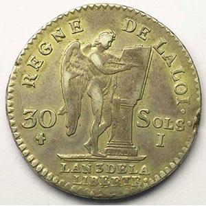 1791 I  (Limoges)  2° sem.   TB+/TTB