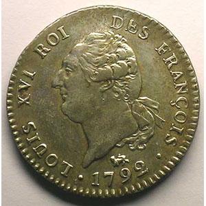 1792 A  (Paris)  1er sem.    TTB