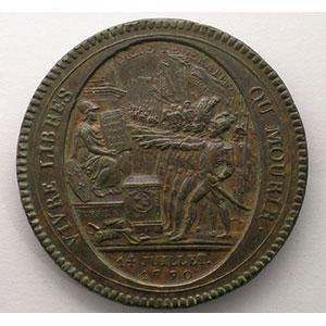 1792  An IV   bronze    TTB  petits chocs sur la tranche