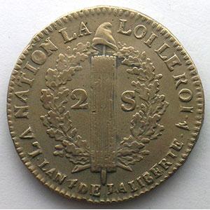 1792 W pointé  (Arras)  An 4    TB+/TTB