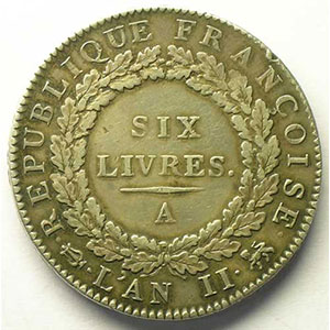 1793 A  (Paris)  An II, point sem.    TTB
